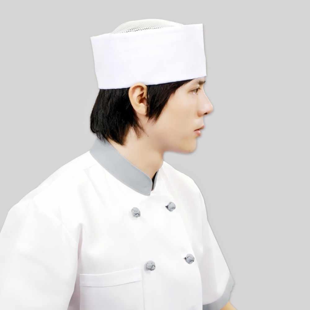 Cook หมวก Chef ห้องครัวอาหารทำงานแม่บ้านผู้ชายผู้หญิง Western Restaurant อาหาร Workshop สีขาวซูชิเค้กขนมเค้ก Shop ในครัวเรือน