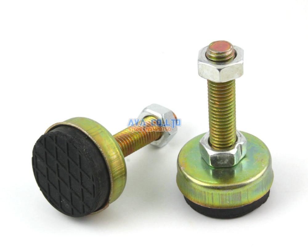 4 Pieces 43mm Base M12x55mm Adjustable Anti Slip Lathe Leg Furniture Leveling Feet Pad nobrand 55 984 12 0 leg