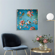 Laeacco Canvas Painting Calligraphy Chinese Flower And Bird Posters and Prints Wall Artwork Home Living Room Bedroom Decoration