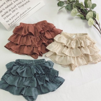 Skirt Cotton Linen Layered Skirts