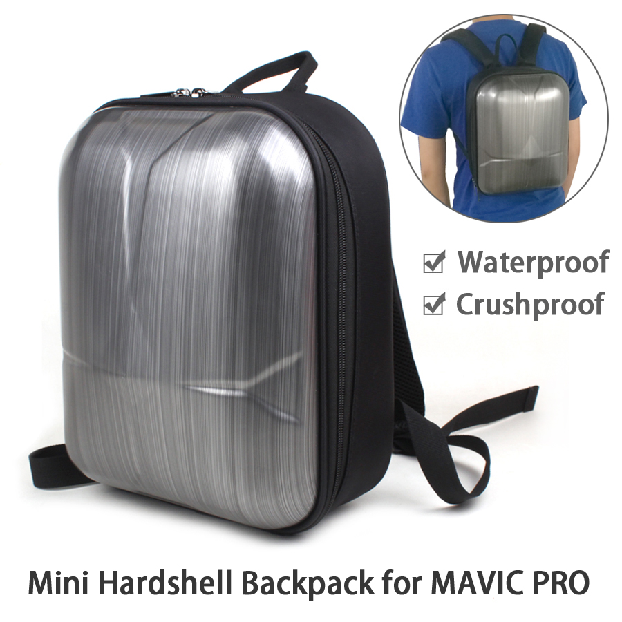 Mini Hardshell Shoulder Backpack Waterproof Bag Carrying Case for DJI MAVIC PRO carrying case for dji mavic pro accessories abs waterproof weatherproof hard military spec bags for dji mavic pro drone bag