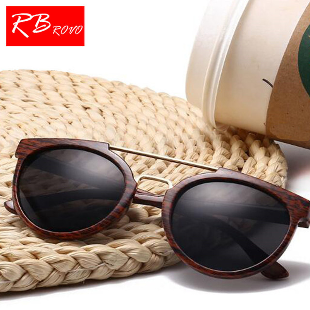 7e4c710e9c57 RBROVO 2018 Imitation Wood Sunglasses Men Brand Designer Classic Vintage  Sun Glasses Men Women Outdoor UV400 Oculos De Sol