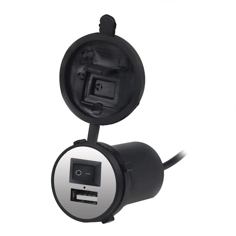 USB Motorfietslader Waterdichte Motor Motorfiets USB Oplader Power - Auto-elektronica