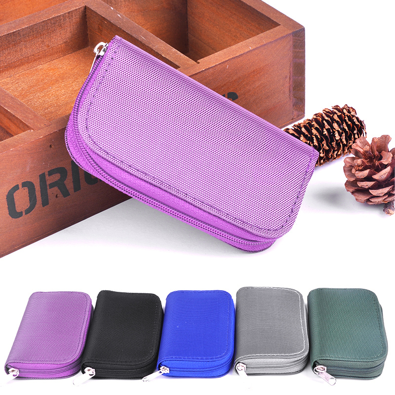 Us 1 58 20 Off Practical Portable Sd Sdhc Mmc Cf Micro Memory Card Storage Carrying Pouch Bag Case Holder Wallet In Id Holders From