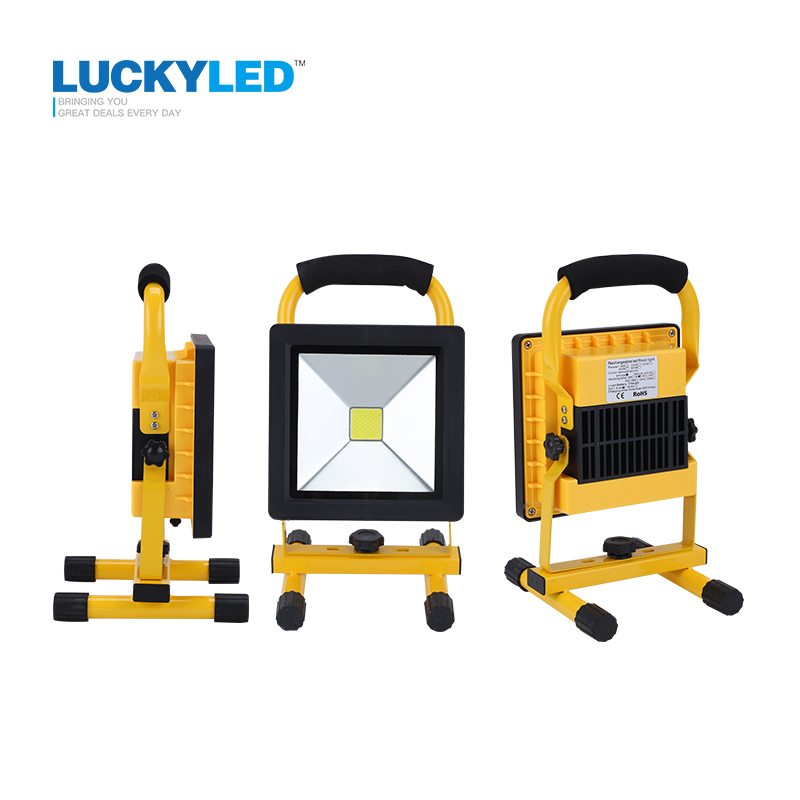 LUCKYLED ultrathin rechargeable <font><b>led</b></font> flood light <font><b>20W</b></font> waterproof IP65 portable Spotlight Outdoor <font><b>Floodlight</b></font> lamp camping light image