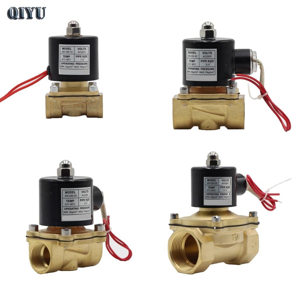 AC 220 v DC 12 v DC 24 v DN08 DN10 DN15 DN20 DN25 DN32 DN40 Électrique Électrovanne Pneumatique valve pour L'air de L'huile de L'eau de Gaz