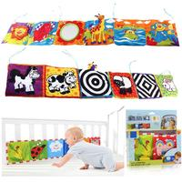 Retail Baby Toys Baby Cloth Book Knowledge Around Multi Touch Multifunction Fun And Colorful Bed Bumper
