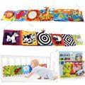 Varejo baby toys de pano do bebê livro de conhecimento em torno de multi-toque divertido e colorido multifuncional cama bumper