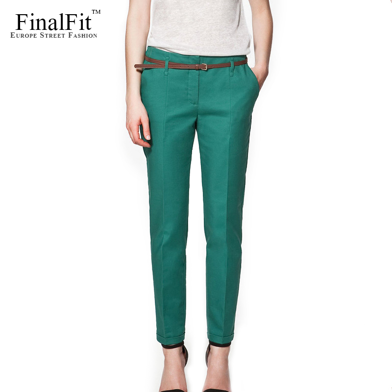 Spring Summer &Autumn Excellent Quality Elegant Fashion Ladies Pencil Pants, Women Trousers With Belt Одежда