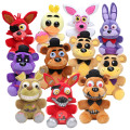 25cm Five Nights At Freddy's 4 FNAF Golden Freddy foxy Bonnie Chica Plush Toys stuffed doll kids gift Freddy Fazbear plush toys