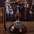 Высокое качество стационарной телефонной связи из красного дерева круговой telefonos de casa телефон винтаж telefono antiguo vintage телефон