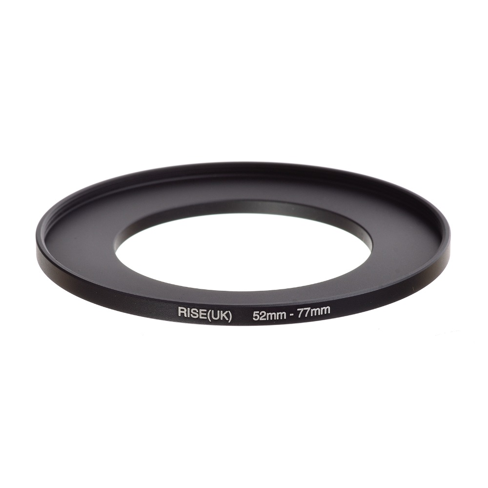 Original RISE(UK) 52mm-77mm 52-77mm 52 To 77 Step Up Ring Filter Adapter Black