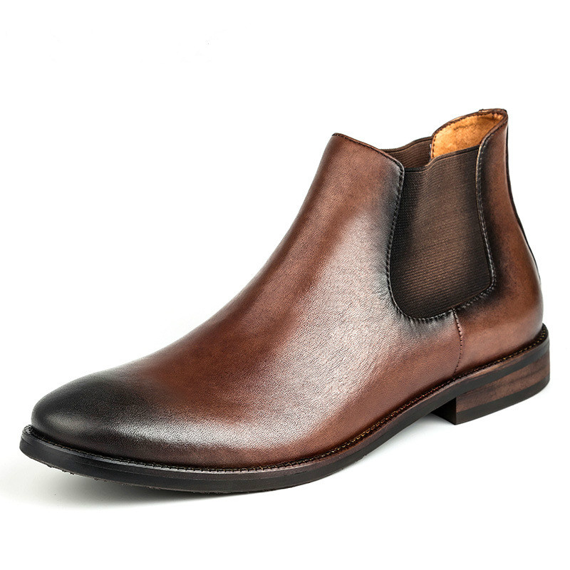 Spring and autumn trend, men's shoes, antique British boots, Chelsea boots, leather boots, Martin boots сошка рулевая уаз 3151 и мод с гур zf мост тимкен адс