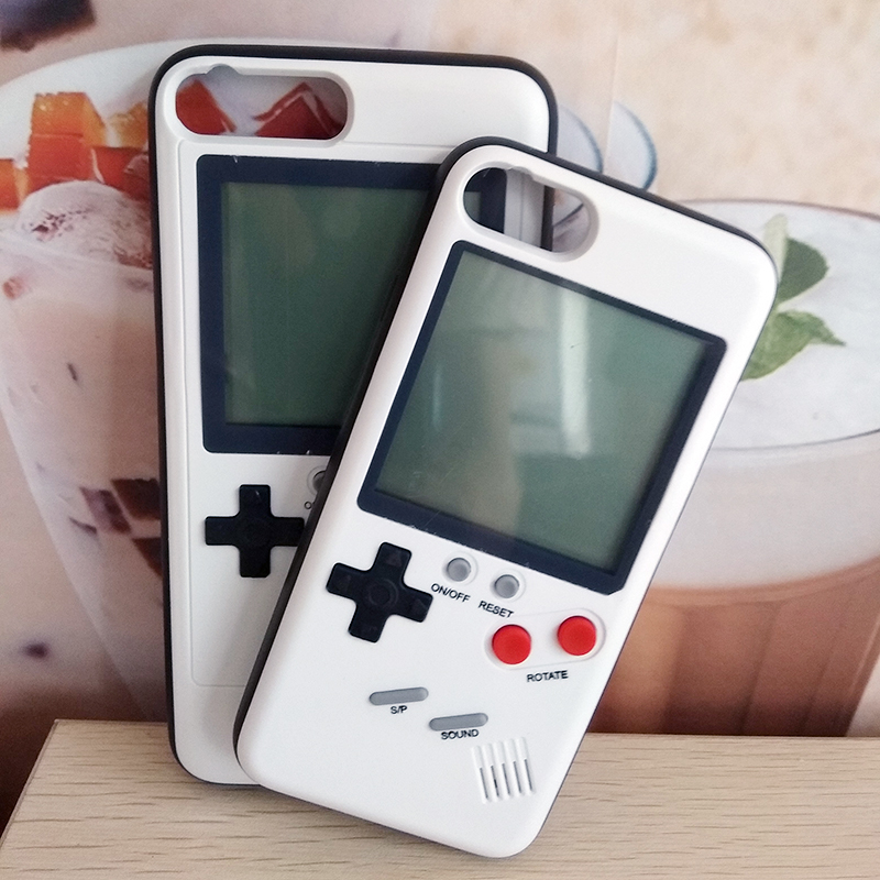 Tetris Multi Game Player Phone Case For iPhone 6 6s 7 8 X Plus 360 Full Fitted Soft TPU Blokus Protective Cover For iPhoneX