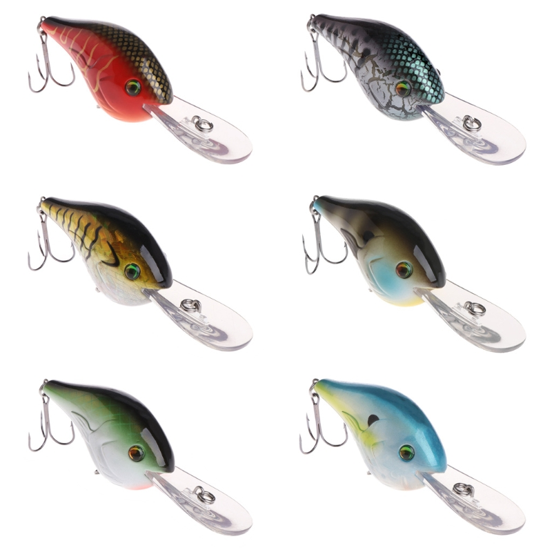 Fishing Bait Wobbler Deep Crankbait Hook Artificial Lure Carp Tackle Accessories