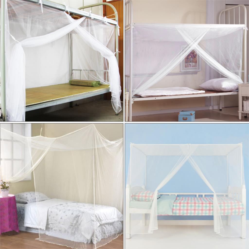 4 size 1pcs New White Mosquito Net Student Canopy Bed Four Corner Post netting Twin Queen-in Mosquito Net from Home u0026 Garden on Aliexpress.com | Alibaba ... & 4 size 1pcs New White Mosquito Net Student Canopy Bed Four Corner ...