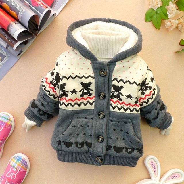 2017 hoodies inverno casaco de algodão com capuz jaquetas sequaz crianças outono quente casacos crianças roupas de bebê casaco de inverno kids clothing