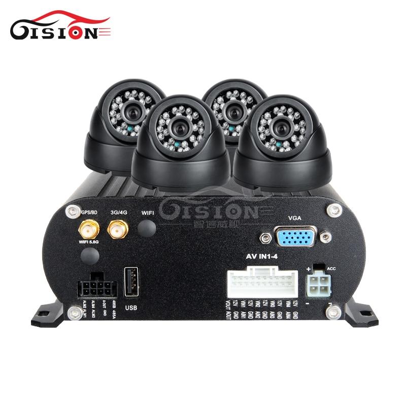 Pulsuz Göndərmə 4Pcs IR Night Vision Vehicle Camera + 4CH 4G LTE - Avtomobil elektronikası - Fotoqrafiya 2