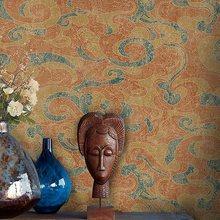 Chinese Style Tibetan Wallpaper Ancient Folk Southeast Asia Temple Buddhist Classical Xiangyun Pattern Wall Paper Roll