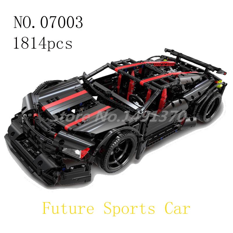 Creative MOC Technic Series Building Blocks The 2015 Assassin X19 Model 07003 Future Racing Car Bricks Toys For Children Gifts
