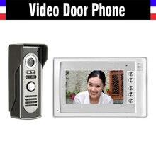 7″ LCD Monitor video doorbell Intercom System IR Night Vision Alloy Door Camera Video Door Phone Kit 1 Monitor 1 Camera Kit
