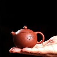 100 мл Исин сырой руды фиолетовый глина Мини Чай горшок ручной работы 7 отверстий Zisha xishi горшок Чёрный чай Dahongpao Книги по искусству чайник небо