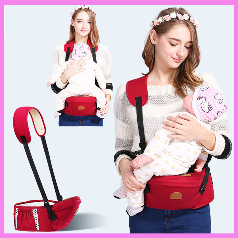Ergonomic Baby Carrier for Newborn Sling Child Waist Stool Hipsit Neck Hanging Carrier Baby Safety Front Facing Backpack Carrier