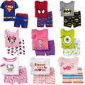 Лето дети мальчики-младенцы девочки одежда комикс костюм короткий рукав Pijamas детские пижама пижамы комплект