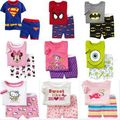 Hot Summer Kids Baby Boys girls Clothing cartoon Costume Short Sleeve Pijamas Childrens Sleepwear Pajamas Set