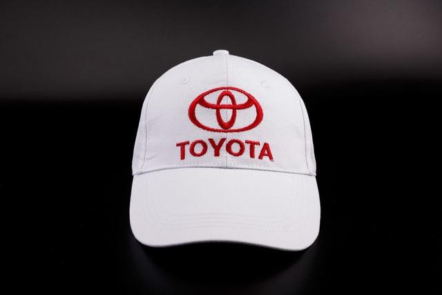 White Baseball Cap With Toyota Logo
