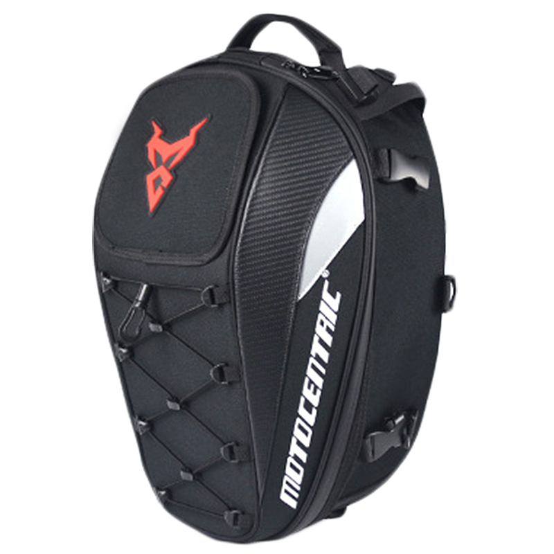 MOTOCENTRIC Waterproof Motorcycle Tail <font><b>Bag</b></font> Multi-Functional Durable Rear Motorcycle Seat <font><b>Bag</b></font> High Capacity Rider Backpack 11-M image