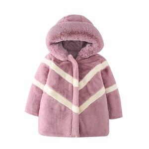 Image 5 - ฤดูหนาวเลียนแบบขนาดใหญ่เสื้อขนสัตว์ 2019 หญิงหนาปุยเสื้อเด็กเสื้อผ้าเด็กกำมะหยี่หนาหนาเสื้อขายส่ง
