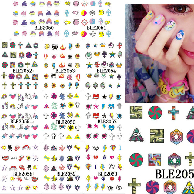 11designs Water Transfer Stickers Decorations For Nails Tips New