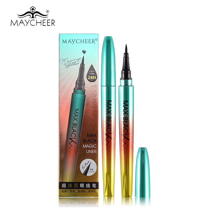 MAYCHEER 24H Professional Black Eyeliner Pencil Waterproof Smooth Brush Langdurige eyeliner Pen Liquid Eyes Makeup Non Smudge