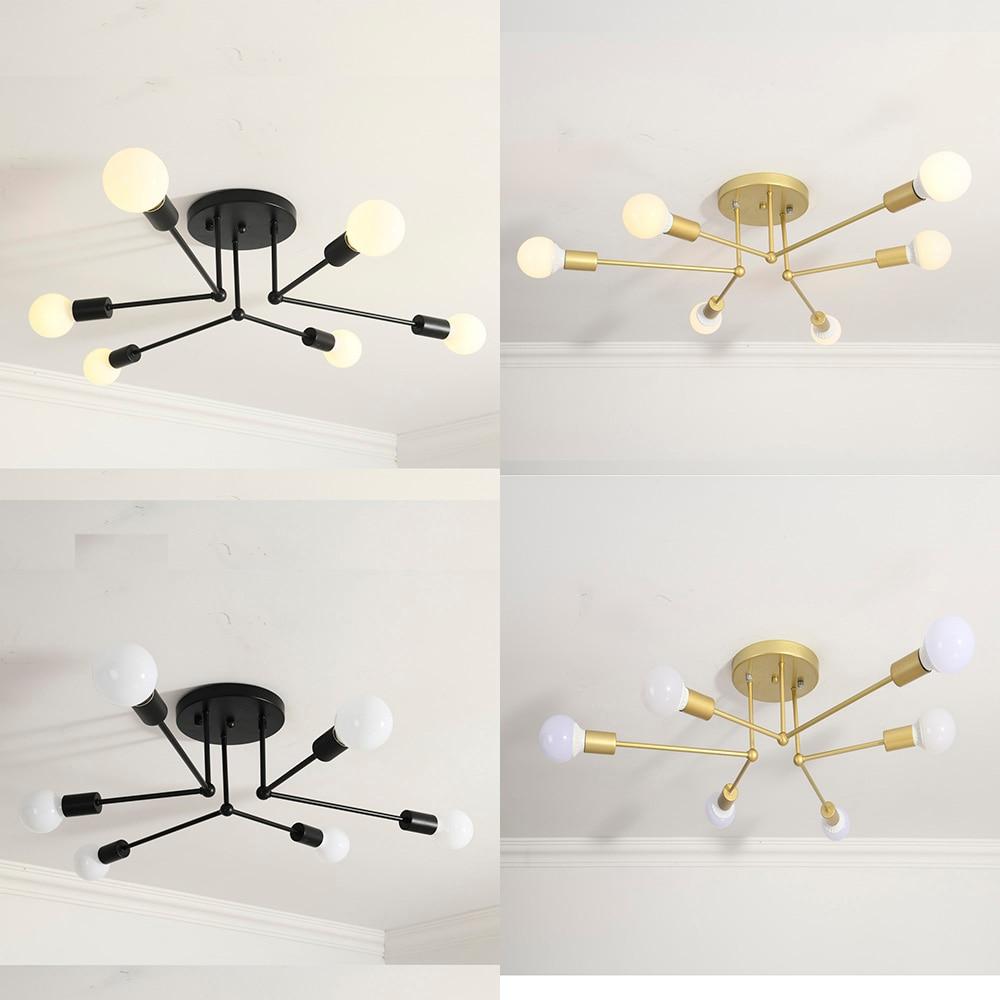 Post-moderne nordique contemporain pendentif LED lumières chambre salle à manger cuisine E27 lampe à LED Edison ampoule