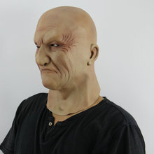 Latex Old Man Mask Halloween Horror Party Terror Male Head Rubber Masks Masquerade Cosplay Props Adults Size