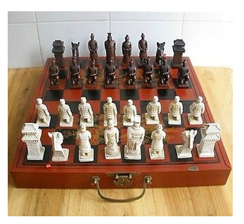 Juego ajedrez chino 32 unidades/caja/Xian Terracota Guerrero Del 100% real de Plata...