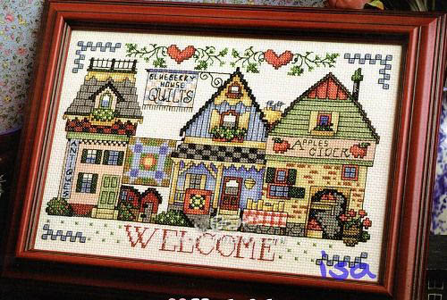 ZZ361 Welcome DIY Craft Stich Cross Stitch Cotton Fabric Needlework Embroidery Crafts Counted Cross-Stitching Kit