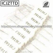 10 pcs 5 W 5% J Cimento Res 0.05R 0.1R 0.15R 0.22R 0.25R 0.27R 0.33R 0.39R 0.47R 0.5R 0.68R 1R 1.2R 1R2 1.5R 1.8R 2R 2.2R 2.4R 2.7R