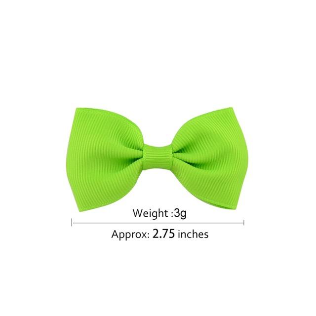 20pcs/40pcs Colorful Bow Hair Clips