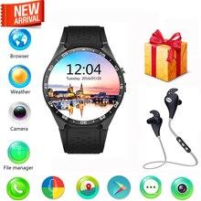 KingWear KW88 3G WiFi Tarjeta SIM Reloj Inteligente Bluetooth 4.0 Frecuencia Cardíaca MTK6580 GPS Google Play 2.0MP Cámara smartwatch teléfono
