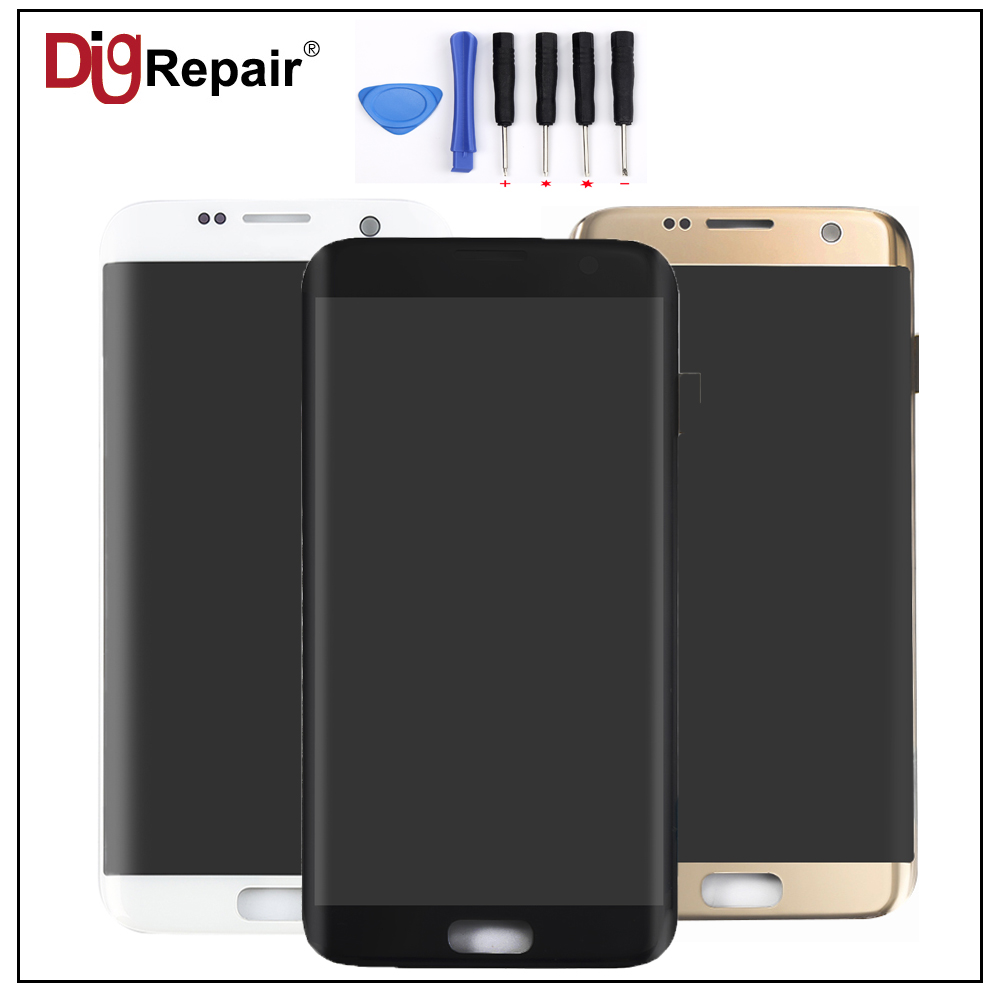 AAA Black Gold White for Samsung Galaxy G935F G935T G935A G935FD LCD Display Touch Screen Digitizer Assembly Replacement Parts