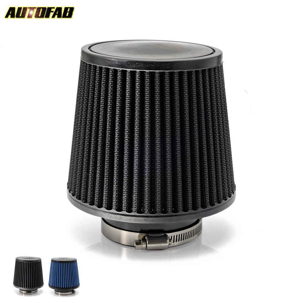 4/'/' INCH INLET SHORT RAM//COLD INTAKE ROUND CONE MESH AIR FILTER CARBON FIBER