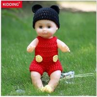35cm Blink Eyes Lifelike Reborn Baby Dolls Soft Vinyl Cheap Toys With Clothes