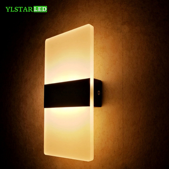 YLSTAR 3 W/6 W Led lámpara de pared de acrílico aplique de pared luces decorativas sala de estar dormitorio pared del pasillo gabinete luces