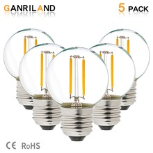 GANRILAND LED 12V-24V DC AC 1W E26 E27 COB Filament Light Bulb G40 Warm White 2700K Lamp Low Voltage Retro Edison 12V Bulbs