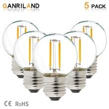 GANRILAND LED 12V-24V DC AC 1W E26 E27 COB Filament Light Bulb G40 Warm White 2700K LED Lamp Low Voltage Retro Edison 12V Bulbs цена