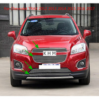 For Chevrolet TRAX 2012 2013 2014 2015 2016 2017 High quality Aluminum alloy Front Grille Around Trim Racing Grills Trim