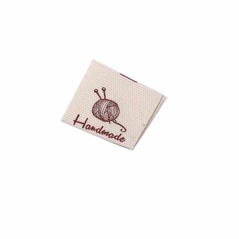 50pcs ผ้าฝ้ายเสื้อผ้าป้าย Handmade Embossed หมวดหมู่ DIY ป้ายสำหรับเสื้อผ้าเย็บอุปกรณ์เสริม
