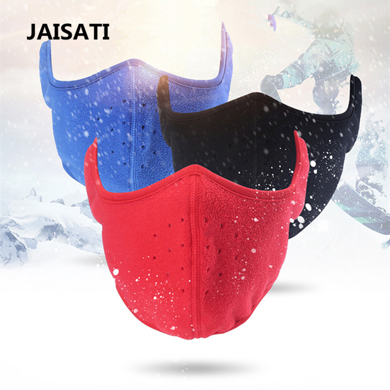 JAISATI Winter  outdoor wind and cold ear protection warm mask cycling cycling skiing face fleece thickened dust masks